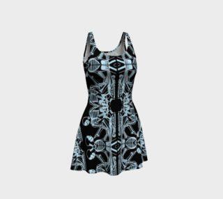 skeletal pattern dress preview