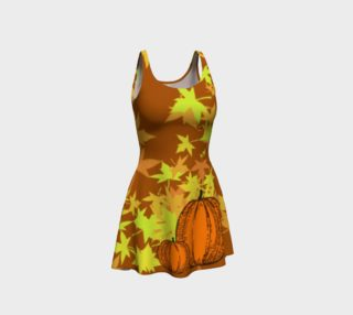 Aperçu de Autumn Pumpkins  Halloween Dress by Tabz Jones