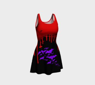 Aperçu de Vampire Bats Goth print dress by Tabz Jones