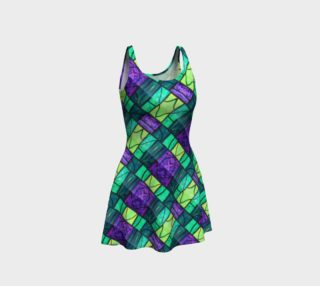Nouveau Garden Stained Glass Flare Dress II preview