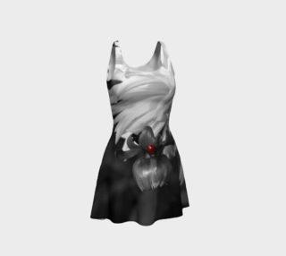 Ladybug on a Dahlia Bud Flare Dress preview