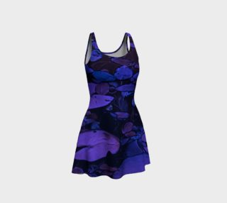 Pond Leaves Purple Blue Flare Dress preview