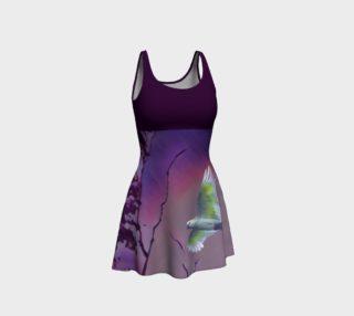 Bird in Flight Dress - Purple preview