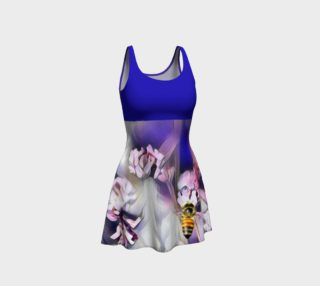Bee on a Flower Dress - Blue preview
