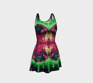 Mandelbrot Butterfly Fractal Flare Dress preview