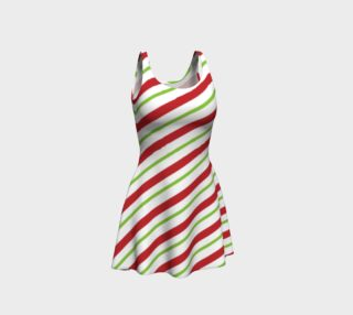 Candy Cane Flare Dress preview