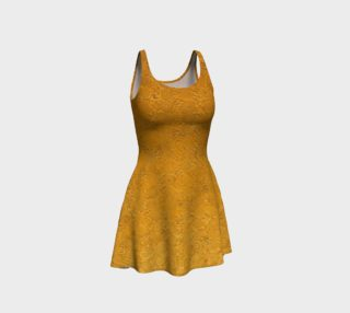 Golden Swirl flare dress preview