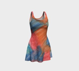 Stained Glass Brush Strokes Flare Dress preview
