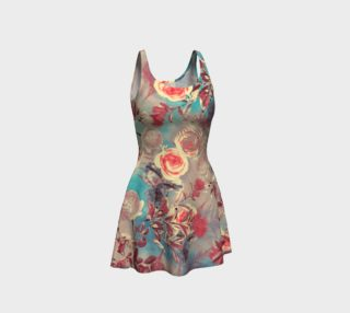 flare dress flowers pastel preview