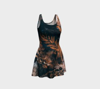 flare dress flowers brown preview