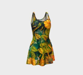flare dress flowers orange preview