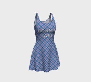 Bonnie Lass Flare Dress in Blue preview