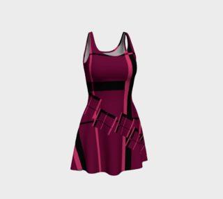 Aperçu de Tumbling Plaid Pink and Black Flare Dress