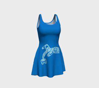 Aperçu de Tsimshian Whale Blue Flare Dress