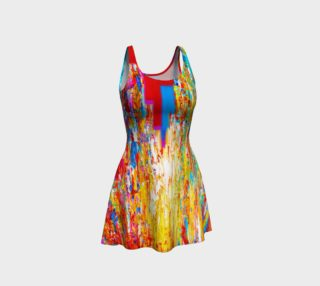 Van Gogh Rainbow Flare Dress preview