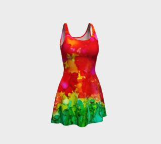 Red Petals Flare Dress preview