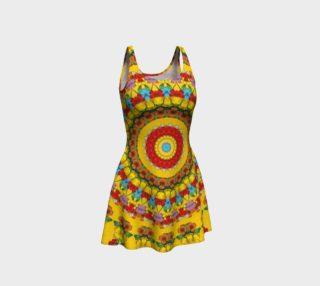 Blooming mandala Flare Dress preview