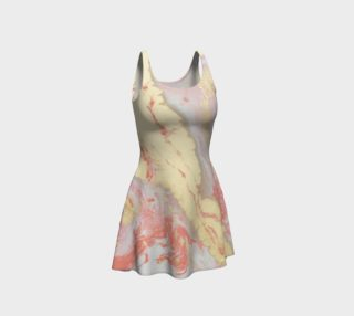 Coral Metallic Royalty Flare Dress preview