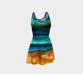 Watercolor Fashion Horizontal Dress preview