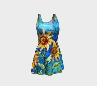 Sunflowers Denim Dress preview