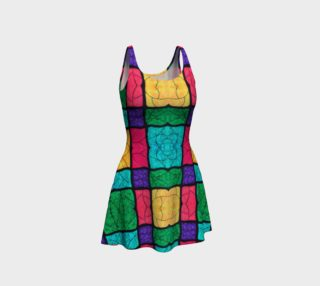 Nouveau Stained Glass Flare Dress preview