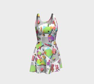 Aperçu de Rad Nineties Geometric Flare Dress