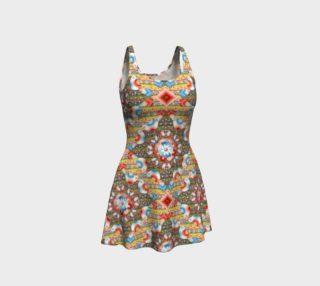 Aperçu de Heraldic Lovebird Flare Dress