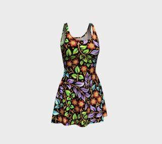 Aperçu de Filigree Floral Flare Dress