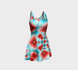 Groovy Argyle Flare Dress preview