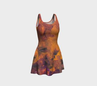 Sunset Flowers Flare Dress preview