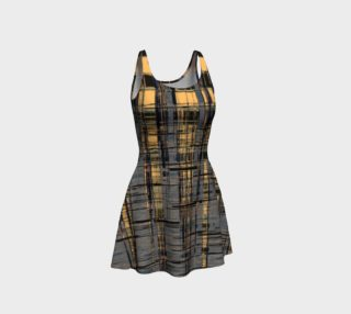 Silver Modern Plaid Flare Dress preview