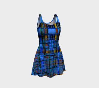 Blue Modern Plaid Flare Dress preview