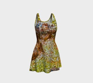 Yellow and Brown Tree Bark Flare Dress preview