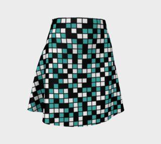 Aperçu de Verdigris, Black, and White Random Mosaic Squares