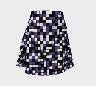 Ultra Violet Purple, Black, and White Random Mosaic Squares preview