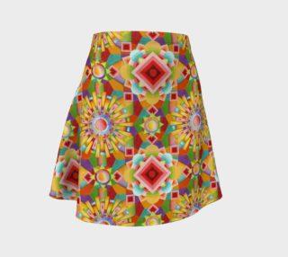 Aperçu de Art Deco Flare Skirt smaller print