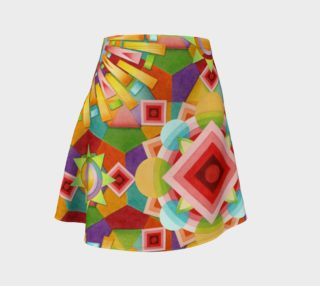 Aperçu de Art Deco Circus Flare Skirt placement Print