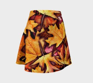Fall leaves Pattern Flare Skirt preview