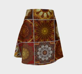 Golden Thai Crazy Quilt Flare Skirt preview