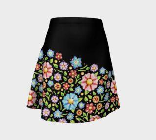 Aperçu de Millefiori Floral Placement Flare Skirt