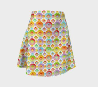 Happy Rainbow Dots Flare Skirt smaller preview