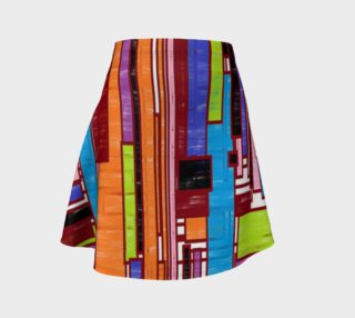 Geo Print Flared Skirt. preview