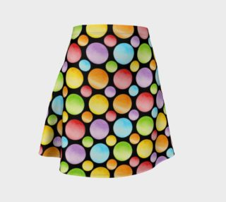 Rainbow Polka Dots allover Flare Skirt preview