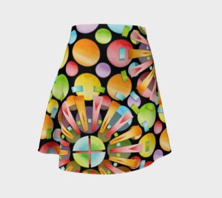Rainbow Dots Sunburst Flare Skirt placement preview