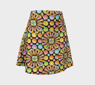 Aperçu de Rainbow Dots Sunburst Flare Skirt allover