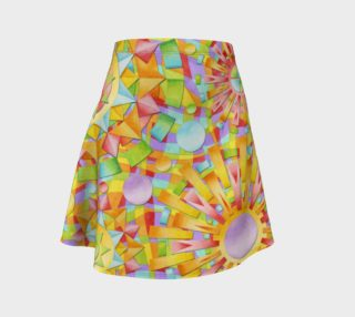 Candy Rainbow Mandala Flare Skirt asymm. preview