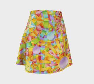 Aperçu de Candy Rainbow Mandala Flare Skirt asymm.