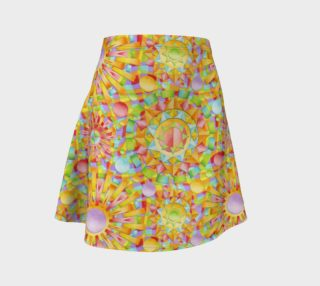 Aperçu de Candy Rainbow Mandala Flare Skirt