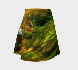 Fall Color Abstract Flare Skirt aperçu