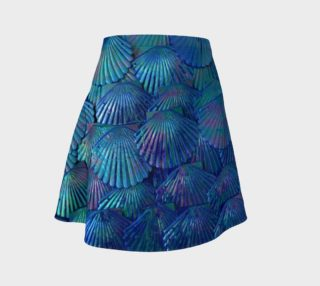 Blue Large-Scale Mermaid Skater Skirt  preview